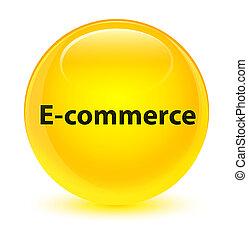 E-commerce glassy yellow round button