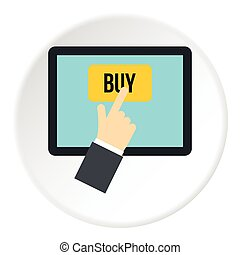E-commerce icon, flat style