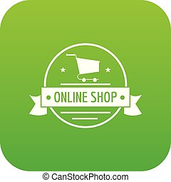 E commerce icon green vector