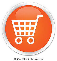 E-commerce icon orange button