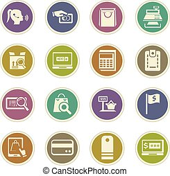 E-commerce icons set - E-commerce icon set for web sites and...