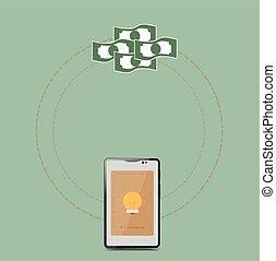 E-commerce in smart phone. Business Concept Illustration.