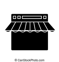 e commerce, internet shop  icon, vector illustration, sign on isolated background