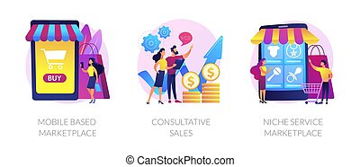 E-commerce marketplace vector concept metaphors - Retail ...