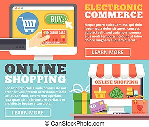 E-commerce, online shopping concept