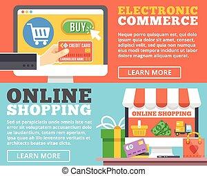 E-commerce, online shopping concept
