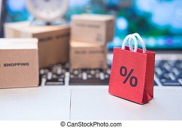 E-commerce online shopping concept.