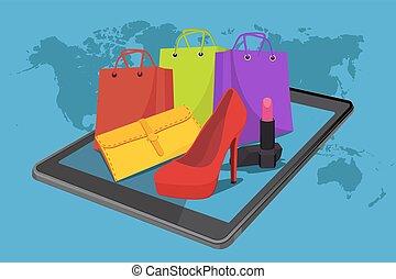 E-commerce. Online shopping
