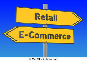e-commerce or retail concept, 3D rendering