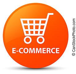 E-commerce orange round button
