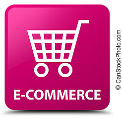 E-commerce pink square button