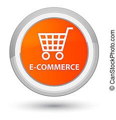E-commerce prime orange round button