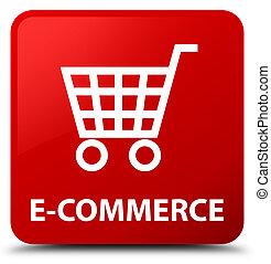 E-commerce red square button