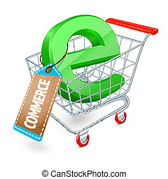 E-commerce shopping cart concept