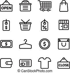 E-commerce shopping icon