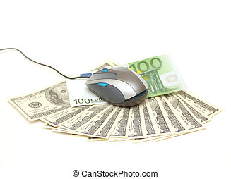 E-commerce - computer mouse and money