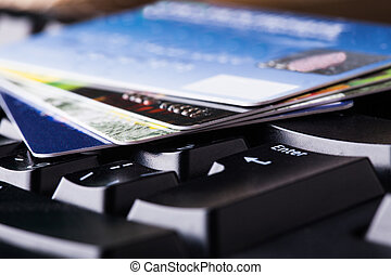 E-commerce, shopping on the internet, different credit cards...