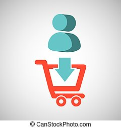 e-commerce store digital character icon