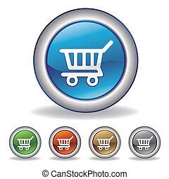 e-commerce, vektor, ikon