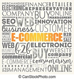 E-COMMERCE word cloud collage