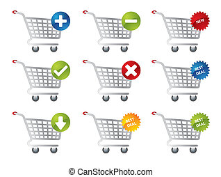 e-commercio, shopping, icone