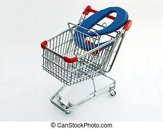 e-commerz, einkaufswagen, (top, view)