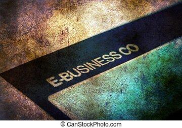 e-, concept, grunge, business