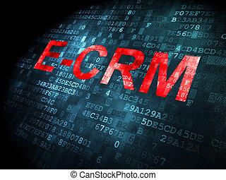 e-crm, concept:, plano de fondo, empresa / negocio, digital