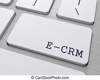 e-crm., informática, concept.