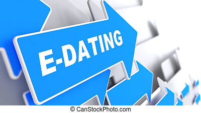 E-Dating on Green Direction Arrow Sign. - E-Dating on ...