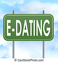 E dating road sign image with hi-res rendered artwork that ...