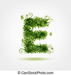e, eco, groene, brief, ontwerp, jouw