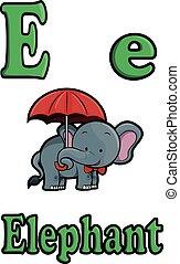 e, elefant