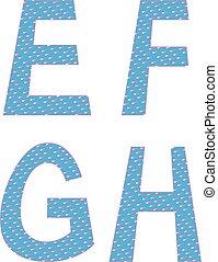 E F G H letters symbols alphabet