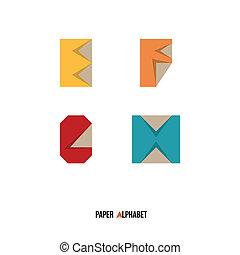 E F G H - Paper Alphabet