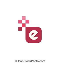 E Font Vector Template Design