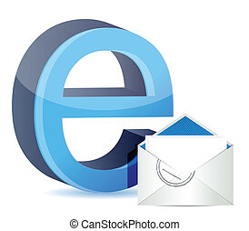 E for internet and mail