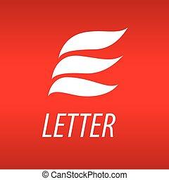 e, formulaire, résumé, pétales, vecteur, lettre, logo