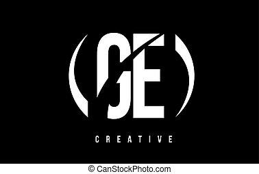 e, g, arrière-plan., ge, conception, lettre, logo, blanc, ...