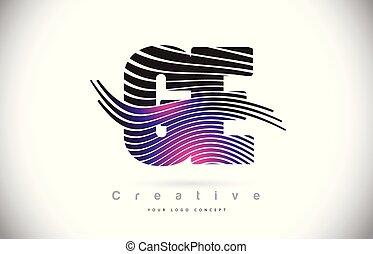 e, g, lignes pourpres, texture, créatif, ge, conception, ...