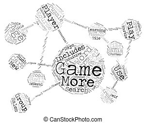 E Games The New Age Entertainment Sports Word Cloud Concept...