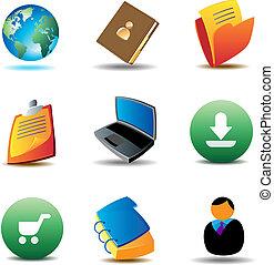 e-handlowy, ikony