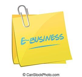 e-handlowy, notatka, projektować, poczta, ilustracja