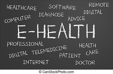 e-health, mot, nuage