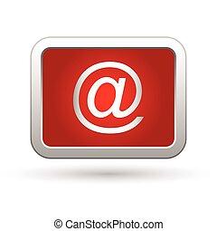 e, icon., イラスト, ベクトル, メール