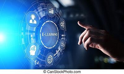 e-imparando, educazione linea, addestramento, webinar, seminario, personale, sviluppo, e, professionale, growth.
