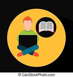 e-imparando, linea, addestramento, education-student