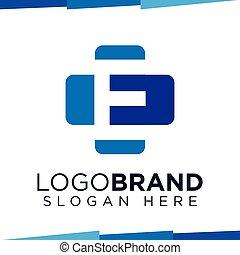 E Initial Letter cross medical logo vector template
