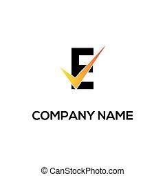 e initial logo company