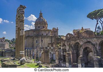 e, italia, santi, luca, chiesa, dei, martina, roma